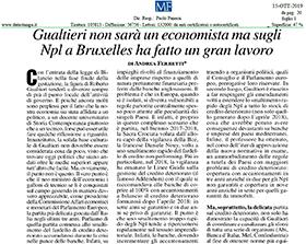 Gualtieri non sarà un economista ma sugli Npl a Bruxelles ha fatto un gran lavoro