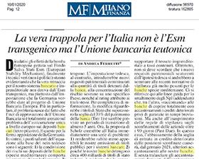 La vera trappola per l'Italia non è l'Esm transgenico ma l'Unione bancaria teutonica