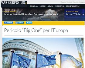 Pericolo Big One per l'Europa